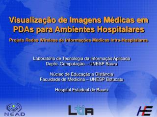 Visualiza  o de Imagens M dicas em PDAs para Ambientes Hospitalares  Projeto Redes Wireless de Informa  es M dicas Intra