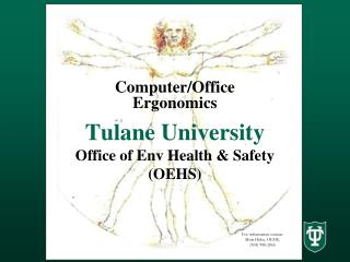 Tulane University Office of Env Health  Safety OEHS