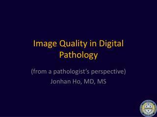 Image Quality in Digital Pathology