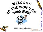 Welcome to the World of Third Grade