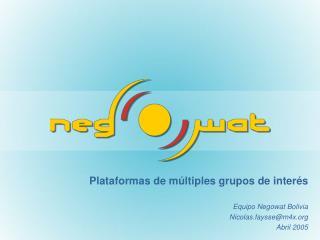 Plataformas de m ltiples grupos de inter s
