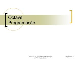 Octave Programa  o