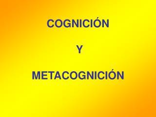 COGNICI N    Y   METACOGNICI N
