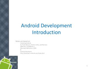 Android Development Introduction
