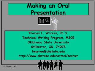 Making an Oral Presentation