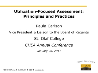 2011 Assessment Report  to the President