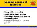 Leading causes of fatalities