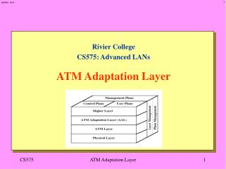 Rivier College CS575: Advanced LANs   ATM Adaptation Layer