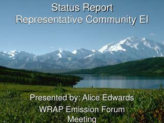 Status Report Representative Community EI
