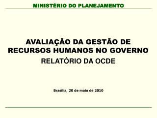 AVALIA  O DA GEST O DE RECURSOS HUMANOS NO GOVERNO RELAT RIO DA OCDE