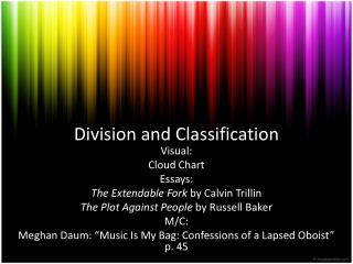Division and Classification