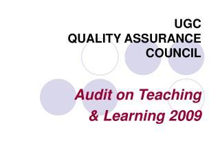UGC QUALITY ASSURANCE COUNCIL