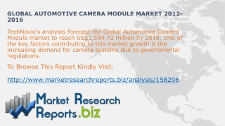 Worldwide Automotive Camera Module System Size And Share 201