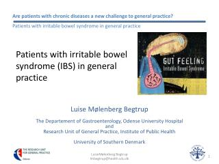 Patients with irritable bowel  syndrome IBS in general  practice