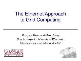 Slides About FTSH and the Ethernet Approach
