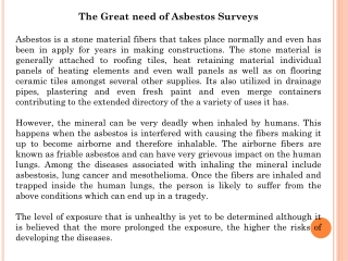 asbestos survey types