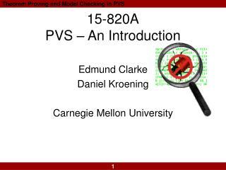 15-820A PVS   An Introduction