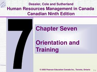 Dessler, Cole and Sutherland Human Resources Management in Canada  Canadian Ninth Edition
