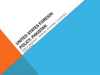 United States Foreign Policy: Pakistan