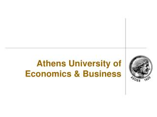 Athens University of Economics  Business