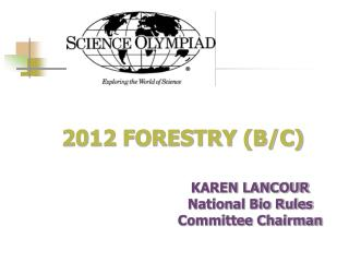 2012 FORESTRY B