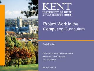 Project Work in the Computing Curriculum