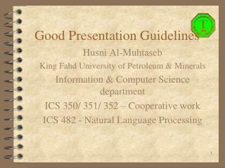 Good Presentation Guidelines