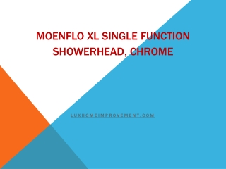 Moenflo XL Single Function Showerhead, Chrome