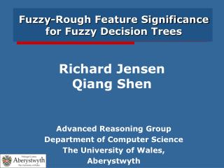 Fuzzy-Rough Feature Significance for Fuzzy Decision Trees