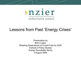 Lessons from Past  Energy Crises