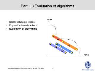 Part II.3 Evaluation of algorithms