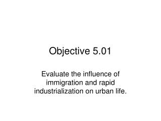 Objective 5.01