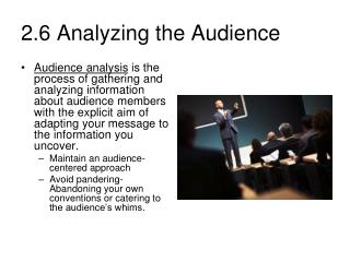 2.6 Analyzing the Audience