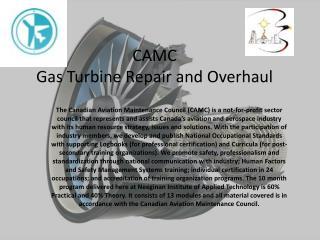 CAMC Gas Turbine Repair and Overhaul