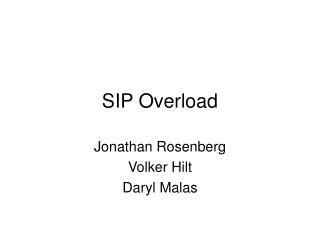 SIP Overload