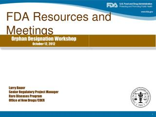 FDA Resources and Meetings