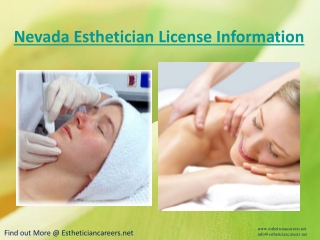 Nevada Esthetician License Information