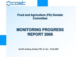 MONITORING PROGRESS REPORT 2006