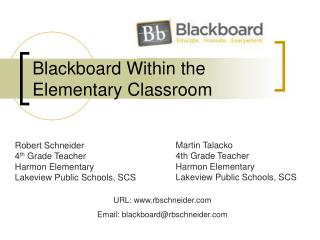 Blackboard Within the Elementary Classroom
