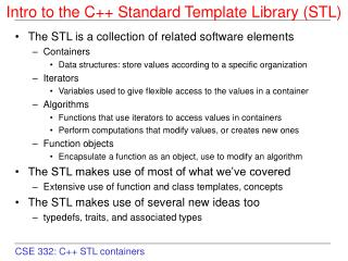 Intro to the C Standard Template Library STL