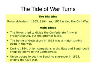 The Tide of War Turns