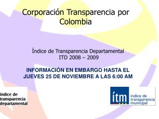 Corporaci n Transparencia por Colombia