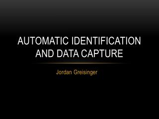 Automatic Identification and Data Capture