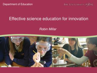 Effective science education for innovation