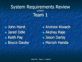 AAE 451 - Team 1 - 2