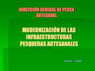 MODERNIZACI N DE LAS INFRAESTRUCTURAS PESQUERAS ARTESANALES