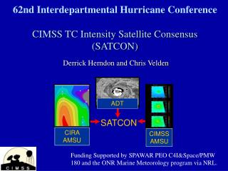 62nd Interdepartmental Hurricane Conference  CIMSS TC Intensity Satellite Consensus SATCON