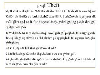 Pksjh Theft