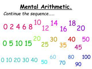 Mental Arithmetic.