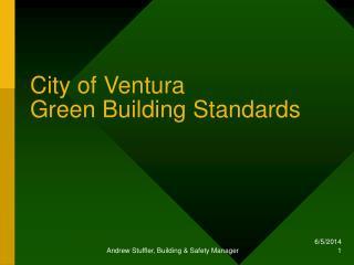 City of Ventura  Green Building Standards